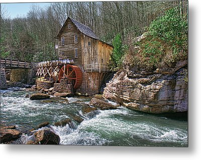 Glade Creek Grist Mill Metal Print by Mary Almond