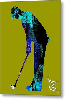 Golf Collection Metal Print