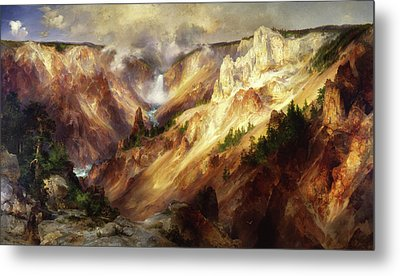 Metal Print featuring the painting Grand Canyon Of The Yellowstone by Thomas Moran