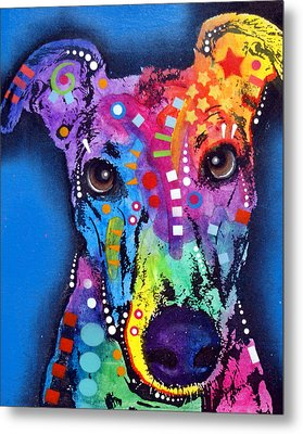 Greyhound Metal Print by Dean Russo