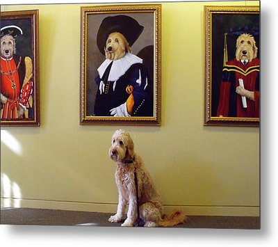 Gunther At His Show  Metal Print by Diane Daigle