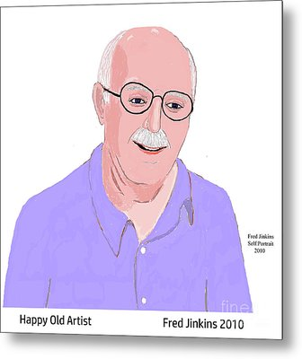 Happy Old Artist Metal Print by Fred Jinkins