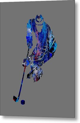 Hockey Collection Metal Print by Marvin Blaine