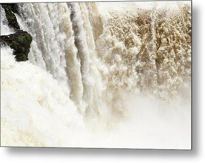 Metal Print featuring the photograph Iguazu Falls by Silvia Bruno