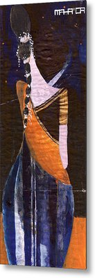 Metal Print featuring the painting India by Maya Manolova