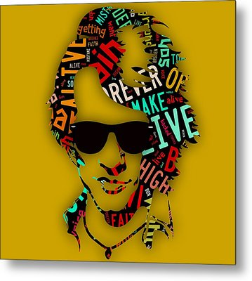 Jon Bon Jovi It's My Life Lyrics Metal Print