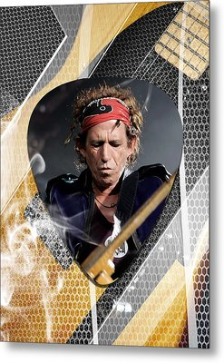 Keith Richards The Rolling Stones Art Metal Print