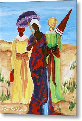 Metal Print featuring the painting 3 Ladies by Diane Britton Dunham