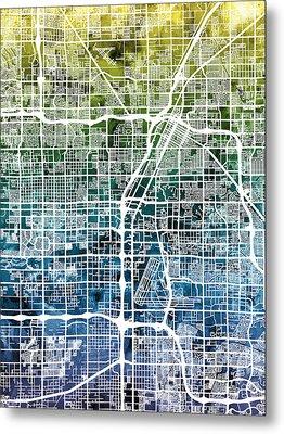 Las Vegas City Street Map Metal Print