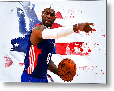 Lebron James Metal Print by Semih Yurdabak