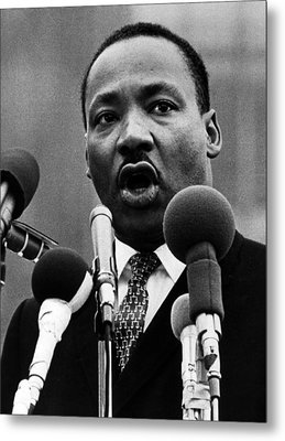 Martin Luther King Jr Metal Print by American School