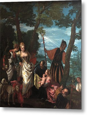 Moses Saved From The Waters Metal Print by Paolo Veronese