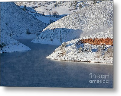 Mountain Lake In Winter Metal Print by Marek Uliasz