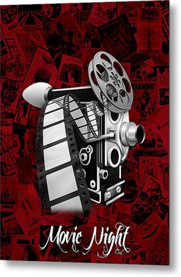 Movie Room Decor Collection Metal Print by Marvin Blaine