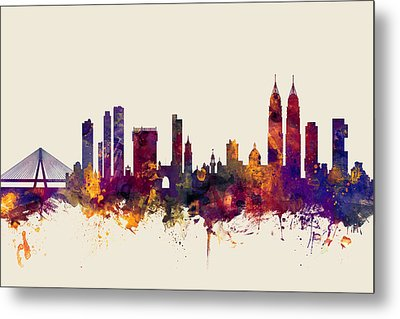 Mumbai Skyline India Bombay Metal Print by Michael Tompsett