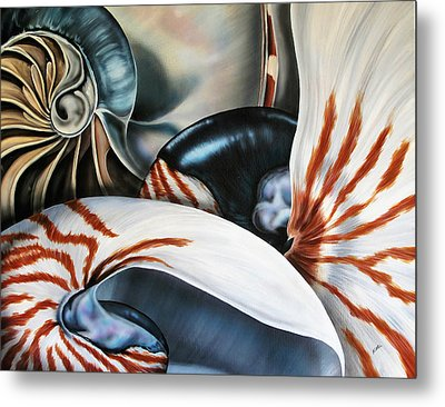 3 Nautilus Metal Print