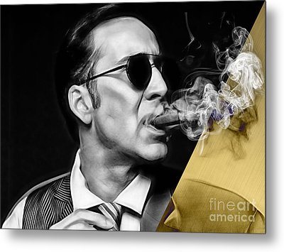 Nicolas Cage Collection Metal Print by Marvin Blaine