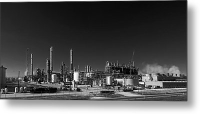 Oil Refinery - Groves Texas Metal Print
