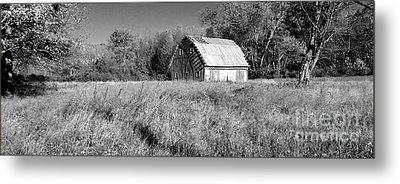 Old Barn In The Meadow Metal Print by Scott D Van Osdol
