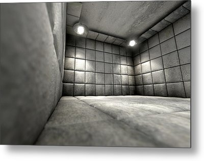 Padded Cell Dirty Metal Print by Allan Swart