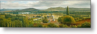 Panoramic View Of The Ile De France Metal Print by Theodore Rousseau