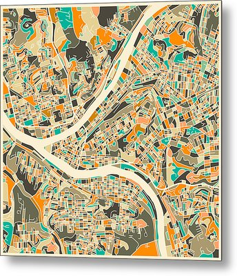 Pittsburgh Map Metal Print