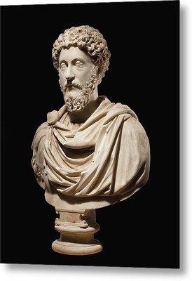 Portrait Bust Of Emperor Marcus Aurelius Metal Print