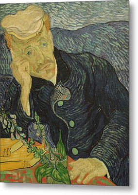 Portrait Of Dr Gachet Metal Print