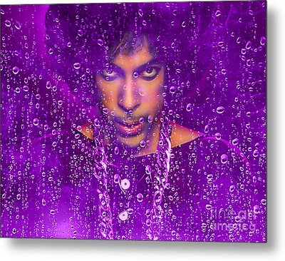 Prince Purple Rain Tribute Metal Print by Marvin Blaine