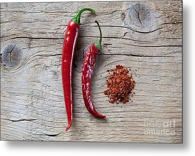 Red Chili Pepper Metal Print