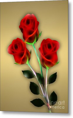 Red Roses Collection Metal Print