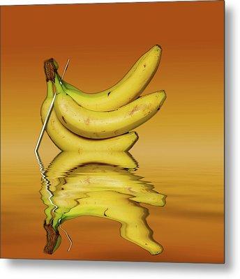 Ripe Yellow Bananas Metal Print by David French