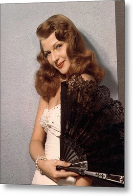 Rita Hayworth, Ca. 1940s Metal Print by Everett