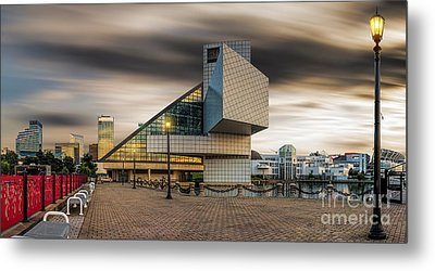 Rock And Roll Hall Of Fame Metal Print by James Dean