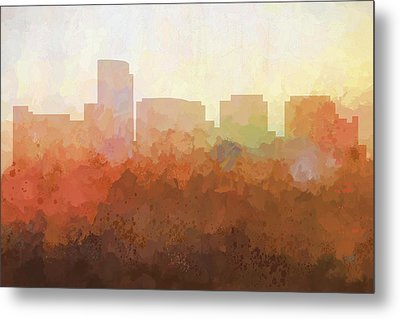 Metal Print featuring the digital art Rosslyn Virginia Skyline by Marlene Watson