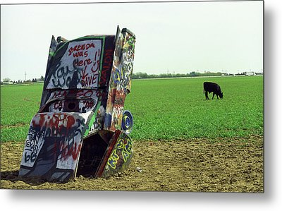 Route 66 - Cadillac Ranch Metal Print by Frank Romeo