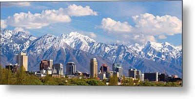 Salt Lake City Utah Usa Metal Print by Utah Images
