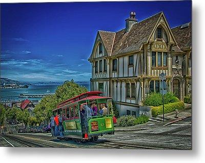 San Francisco Cable Car Metal Print by Mountain Dreams