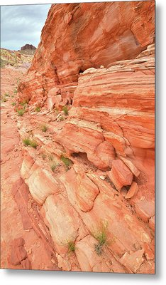 Metal Print featuring the photograph Sandstone Wall In Valley Of Fire by Ray Mathis