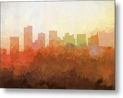 Metal Print featuring the digital art Scottsdale Arizona Skyline by Marlene Watson