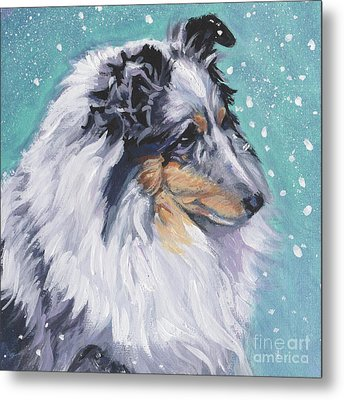 Metal Print featuring the painting Shetland Sheepdog by Lee Ann Shepard