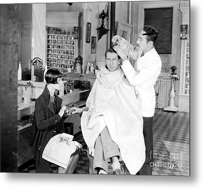 Silent Still: Barber Shop Metal Print by Granger