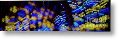 Metal Print featuring the photograph Singapore Night Urban City Light - Series - Your Singapore by Urft Valley Art