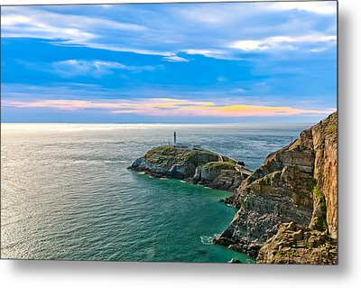 South Stack Lighthouse Metal Print by Gary Finnigan