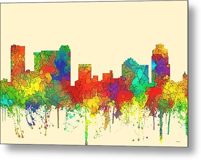 St Petersburg Florida Skyline Metal Print