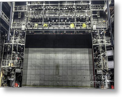 Metal Print featuring the photograph Stage In The Abandoned Theatre by Michal Boubin