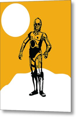 Star Wars C-3po Collection Metal Print by Marvin Blaine