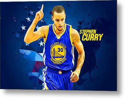 Stephen Curry Metal Print by Semih Yurdabak
