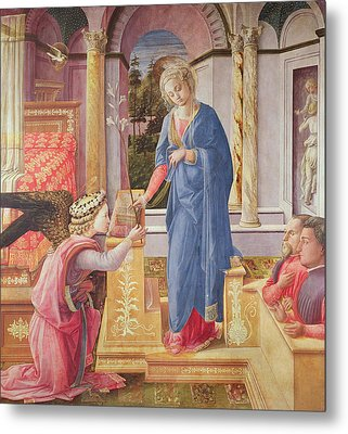 The Annunciation Metal Print by Fra Filippo Lippi