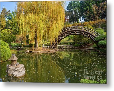 The Beautiful Fall Colors Of The Japanese Gardens In The Hunting Metal Print by Jamie Pham